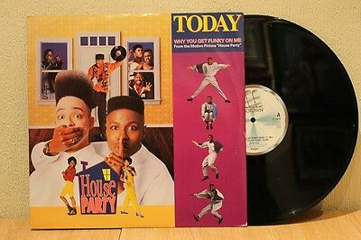 """Today - Why You Getfunky On Me 1990 Motown 12"""" 45 Ex+"""
