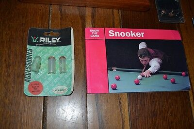 Collection Job Lot Of Snooker Bits Wooden Triangle Ball Book FREE DELIVERY