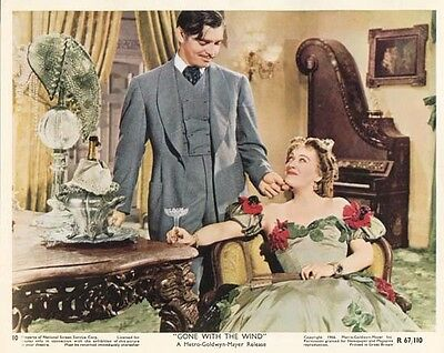 GONE WITH THE WIND great original rr color still CLARK GABLE (T745)