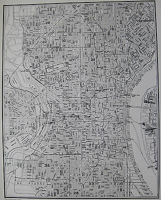 1935 Vintage PHILADELPHIA Map Neat Map of Philadelphia Gallery Wall Art 3412