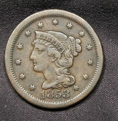 1853 USA Large Cent - Nice grade and color