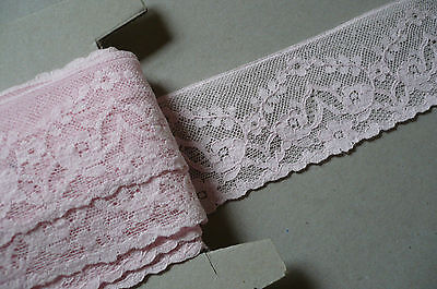 Vintage French Cotton Lace .Pink c1930. 50mms .x 3 Metres