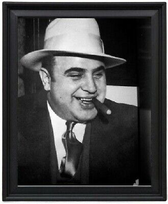 Al Capone with Cigar Poster Picture Frame 8x10