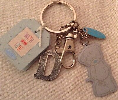 Me To You Tatty Teddy Carte Blanche Letter D Keyring Charm