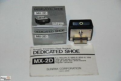 Sunpak Flash System Dedicated Shoe MX-2D Minolta X-500, X-700, XD