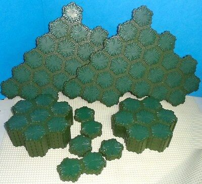 Heroscape .. 117 Hex SWAMP TERRAIN ... for Battlefield