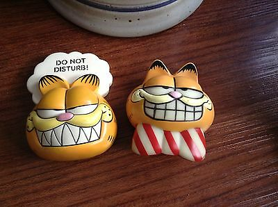 Pair Vintage Bowtie Garfield Door Knob Covers (Glow in the Dark!)