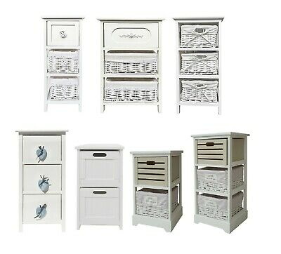 Assembled White Chest of Drawer Livingroom Hallway Bedside Table Storage Unit