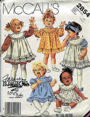 McCall's 2854 Vintage Toddler Dress Pinafore Sundress & Panties 2 3 4  ©1986 EUC