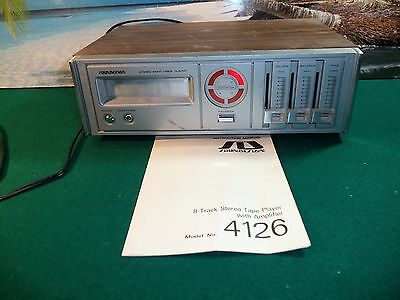 Soundesign 8-Track  Stereo Player Model 4126 W/user Manual