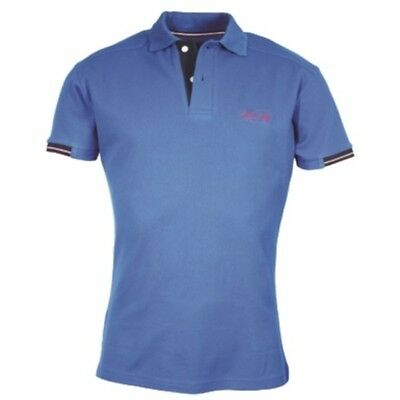 MARK TODD FRANK MENS SHORT SLEEVE POLO SHIRT ROYAL BLUE riding wear for men