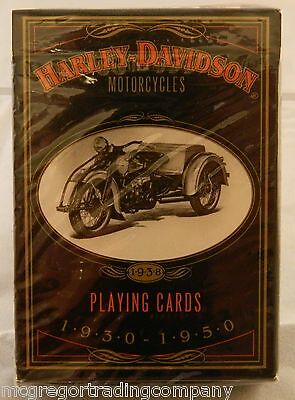 Harley-Davidson Motorcycles Playing Cards 1997 New in Sealed Package