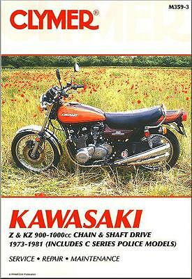 Kawasaki Z1 KZ900 KZ1000 Z1R 1973-1981 Clymer Service Repair Workshop Manual