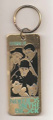 New Kids on The Block Brass Ticket ~ Vintage ~ Original ~ Licensed ~ Key Ring