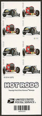 US 4909b Hot Rods forever booklet 20 MNH 2014