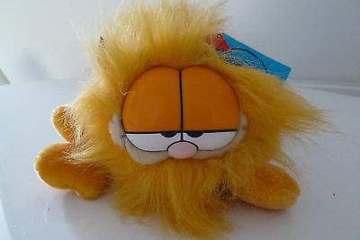 Vintage Garfield The Cat - Shaggy - Soft Toy 80s Dakin 14 X 7ins NEW UNUSED TAGS