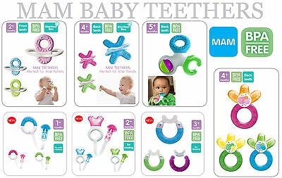 Mam Baby Teethers 1pack 1+ to 5+ Months (Multicolours Teethers are Available)