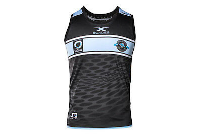 X Blades Cronulla Sharks NRL 2017 Players Rugby Training Singlet