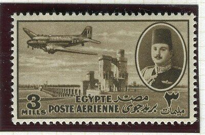 EGYPT;  1947 early AIRMAIL issue fine MINT MNH Unmounted 3m. value