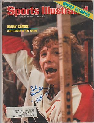 Bobby Clarke AUTOGRAPH 1976 SPORTS ILLUSTRATED SIGNED HOF 87