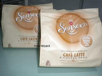 Senseo Pods Douwe Egberts Cafe Latte Flavour Coffee Pads New 2 Packs (X16)