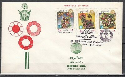 + Persia, Scott cat. 1920-1922. Children`s Week issue on a First day cover.