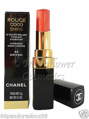 Chanel Rouge Coco Shine Hydrating Sheer Lipshine Lipstick SARI D'EAU New Boxed