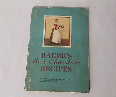 1932 Bakers Best Chocolate Recipes Cook Book Early GENERAL FOODS Advertising