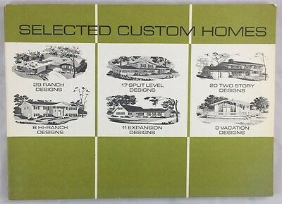 Extensive c1960s Vintage Selected Custom Homes Catalog Blueprints Illustrated