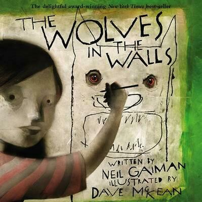 The Wolves in the Walls by Neil Gaiman (English) Paperback Book Free Shipping!