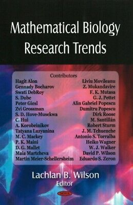 Mathematical Biology Research Trends (Hardcover), 9781604561418