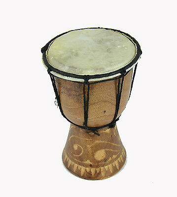 Hand Crafted Wood Djembe Drum 5.25'' x 7.5'' HAND DRUM BONGO