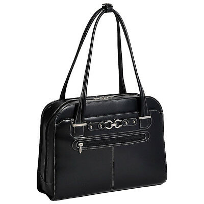 "McKlein USA Mayfair Ladies 15"" Laptop Tote - Black Women's Business Bag NEW"