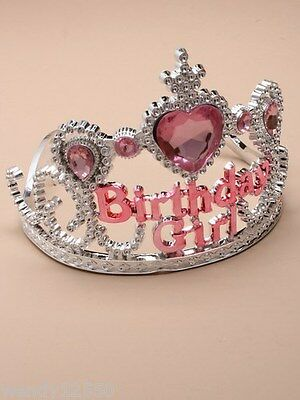 Pack Of 3 Plastic Silver Children's Birthday Girl Tiaras, Crown - Sp-5036 Pk3