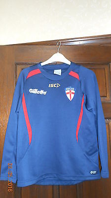Boys Sweatshirt - England Rugby League - Age 14 - Isc - Long Sleeves - Blue