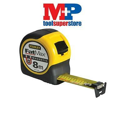 Stanley Tools 033868 FatMax Magnetic Tape Measure 8m 8 Metre (Metric)