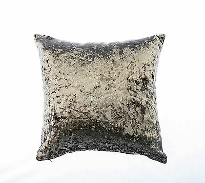 "Zfoam Luxury Crush Velvet Cushion Cover - 12"" X 12""-Truffle"