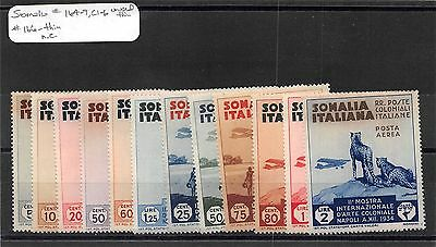 Lot of 12 Somalia MH Mint Hinged Thin Stamps Scott # 164 - 169 & C1 - C6 #97180