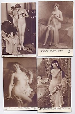 10 Original Vintage French Nude Postcards   (W Lot 2)