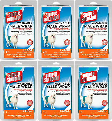 Simple Solution Washable Male Wrap Large 6pk