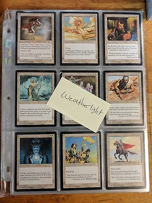 MTG Magic The Gathering Weatherlight Complete Set 167 Cards NM-LP Condition