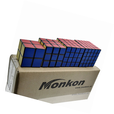 Monkon Set of 2x2x2 3x3x3 4x4x4 5x5x5 Rubick Rubix Magic Puzzle Cube (HM)