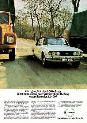 1972 Triumph Stag advert poster / print