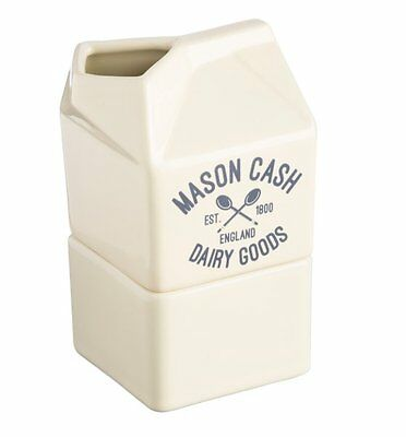 Mason Cash VARSITY CREAM and SUGAR CARTON 2 in 1 Milk Jug CERAMIC Cream