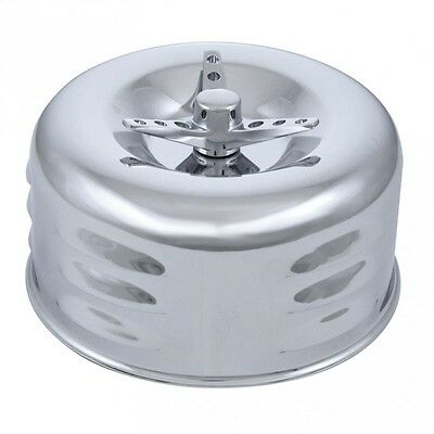 "4"" Chrome Air Cleaner, Louvered with 3 Wing Screw"