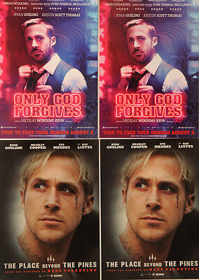 4 X Ryan Gosling Film Postcards - The Place Beyond The Pines & Only God Forgives