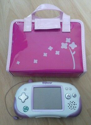 Pink Leapfrog Leapster Explorer with official case