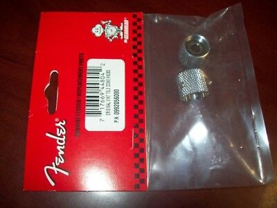 NEW - Genuine Fender Original Vintage Tele Knobs (2) CHROME - 099-2056-000