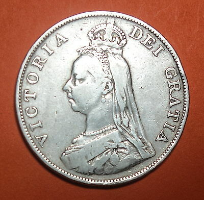 Great Britain Double Florin. 1887. Queen Victoria.  0.925 Silver.