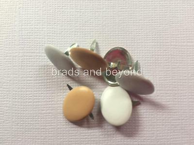 BB BRADS EGGS pk of 6 white natural food easter boiled scrapbooking split pin